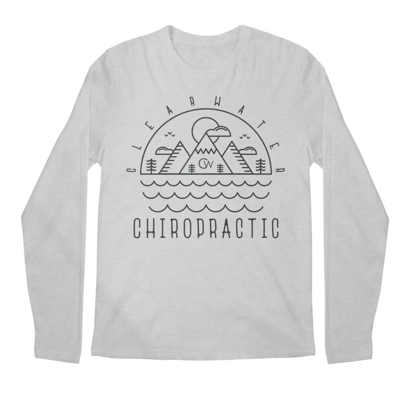 Black Clearwater Chiro Waves Light Clothing  Men's Longsleeve T-Shirt by Clearwater Chiropractic Gear