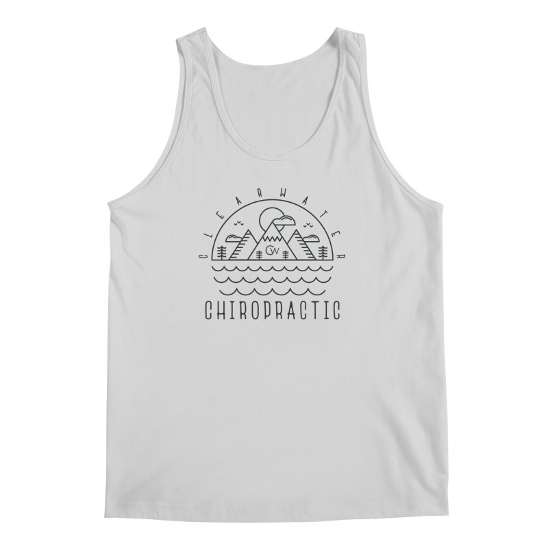 Black Clearwater Chiro Waves Light Clothing  Men's Regular Tank by Clearwater Chiropractic Gear
