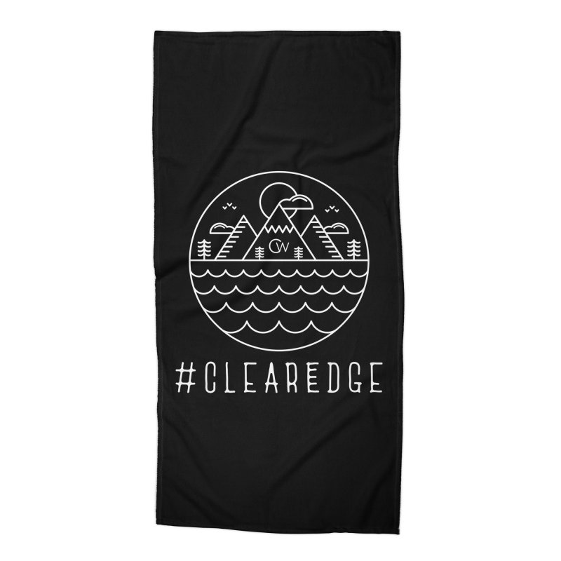 White Clear Edge Waves Dark Clothing  Accessories Beach Towel by Clearwater Chiropractic Gear
