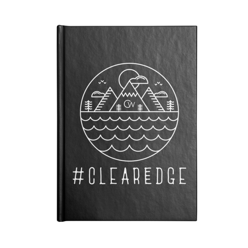 White Clear Edge Waves Dark Clothing  Accessories Notebook by Clearwater Chiropractic Gear