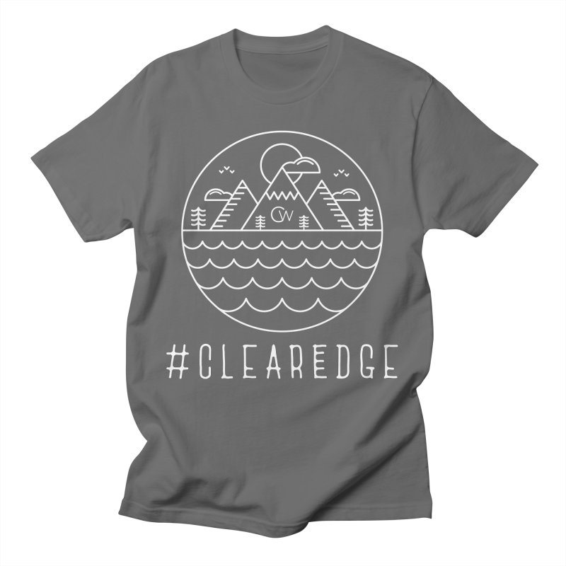 White Clear Edge Waves Dark Clothing  Men's T-Shirt by Clearwater Chiropractic Gear