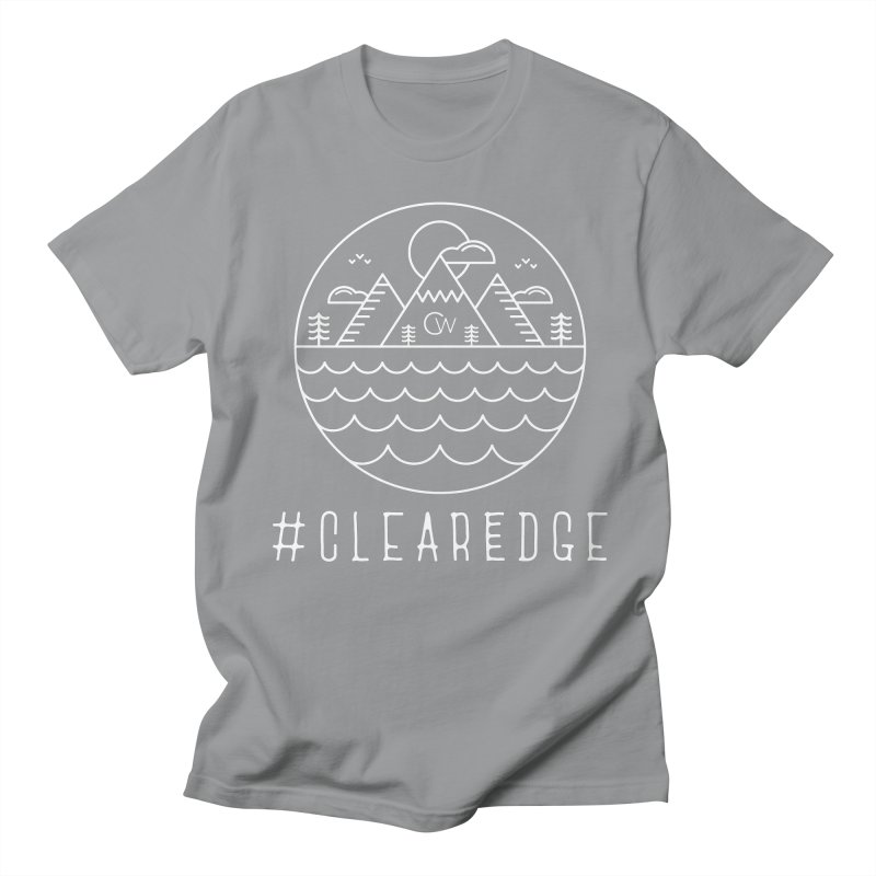 White Clear Edge Waves Dark Clothing  Men's Regular T-Shirt by Clearwater Chiropractic Gear