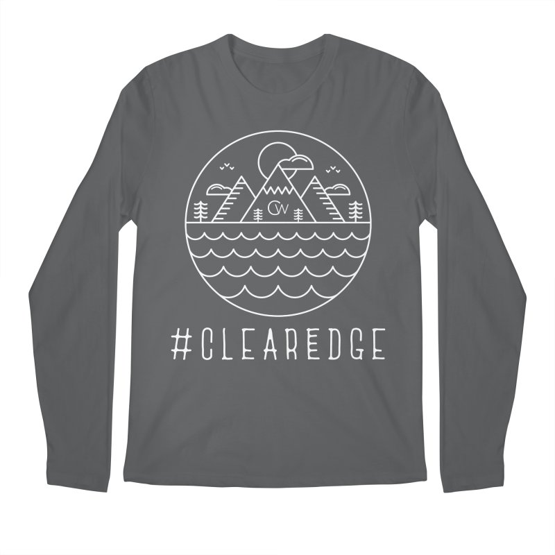 White Clear Edge Waves Dark Clothing  Men's Regular Longsleeve T-Shirt by Clearwater Chiropractic Gear