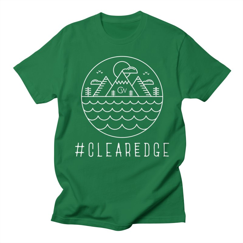 White Clear Edge Waves Dark Clothing  Women's T-Shirt by Clearwater Chiropractic Gear