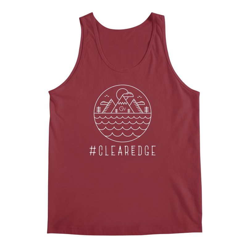 White Clear Edge Waves Dark Clothing  Men's Regular Tank by Clearwater Chiropractic Gear