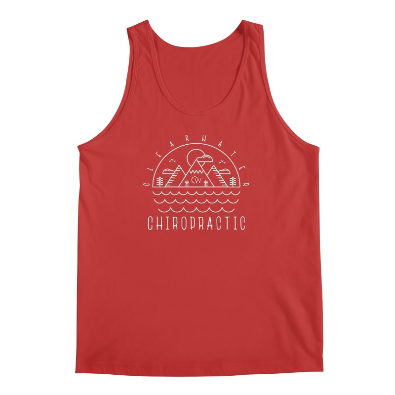 White Clearwater Chiro Waves Dark Clothing  Men's Regular Tank by Clearwater Chiropractic Gear