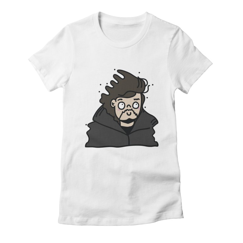 Cute Jon Snow Women's Fitted T-Shirt by clemrose's Shop