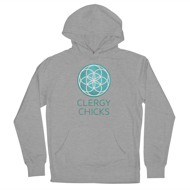 Clergy Chicks Color Logo Women's French Terry Pullover Hoody by clergychicks's Artist Shop