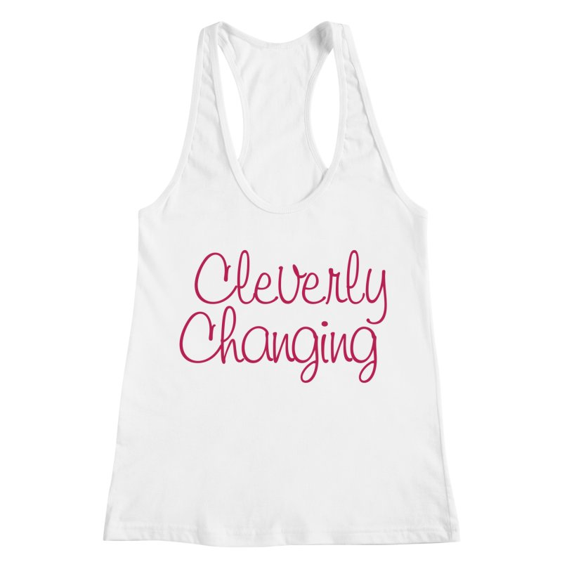 Clever Tee Women's Racerback Tank by Cleverly Changing Shop