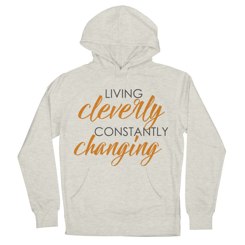 Living in Women's French Terry Pullover Hoody Heather Oatmeal by Cleverly Changing Shop