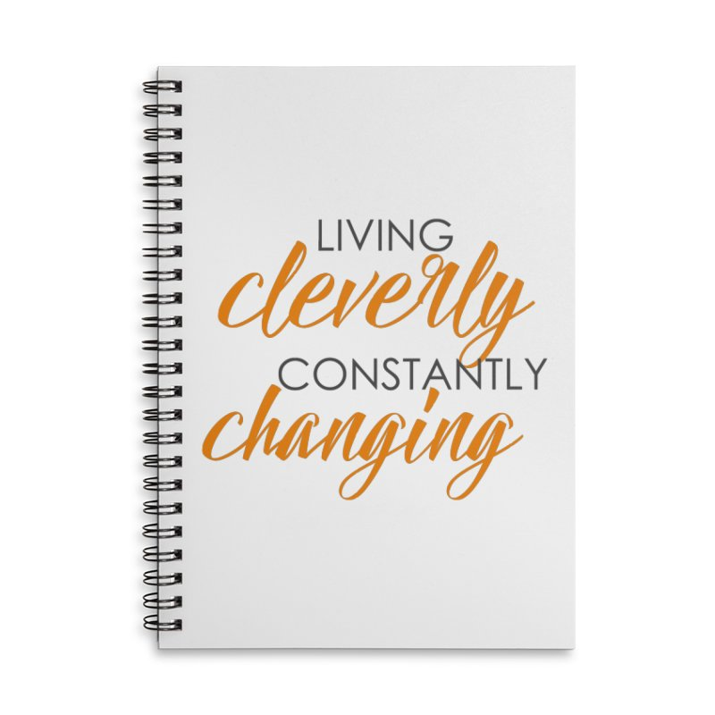 Living Accessories Lined Spiral Notebook by Cleverly Changing Shop