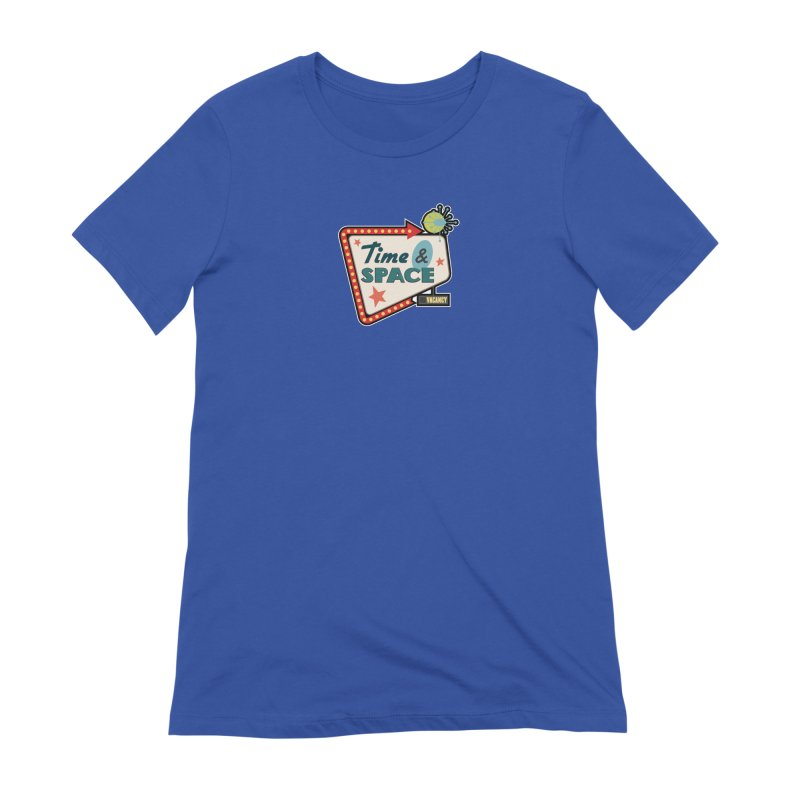 Spacetime Motel Sign Women's Extra Soft T-Shirt by Clever Name Designs @ Threadless