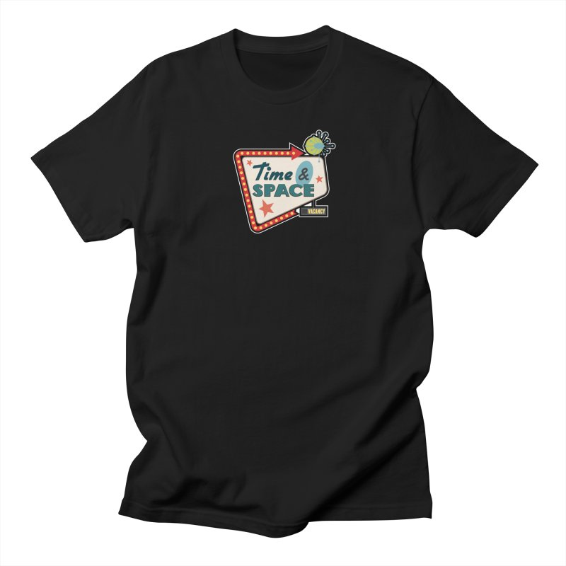 Spacetime Motel Sign Men's Regular T-Shirt by Clever Name Designs @ Threadless