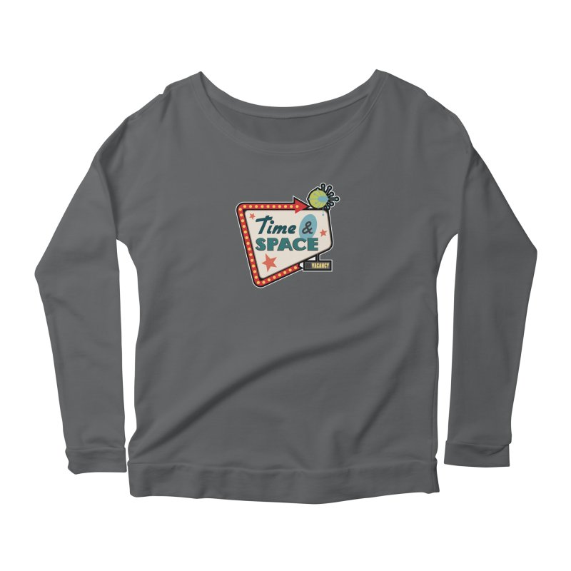 Spacetime Motel Sign Women's Scoop Neck Longsleeve T-Shirt by Clever Name Designs @ Threadless
