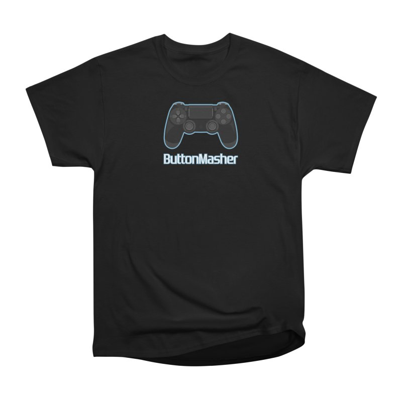 Button masher Women's Heavyweight Unisex T-Shirt by Clever Name Designs @ Threadless