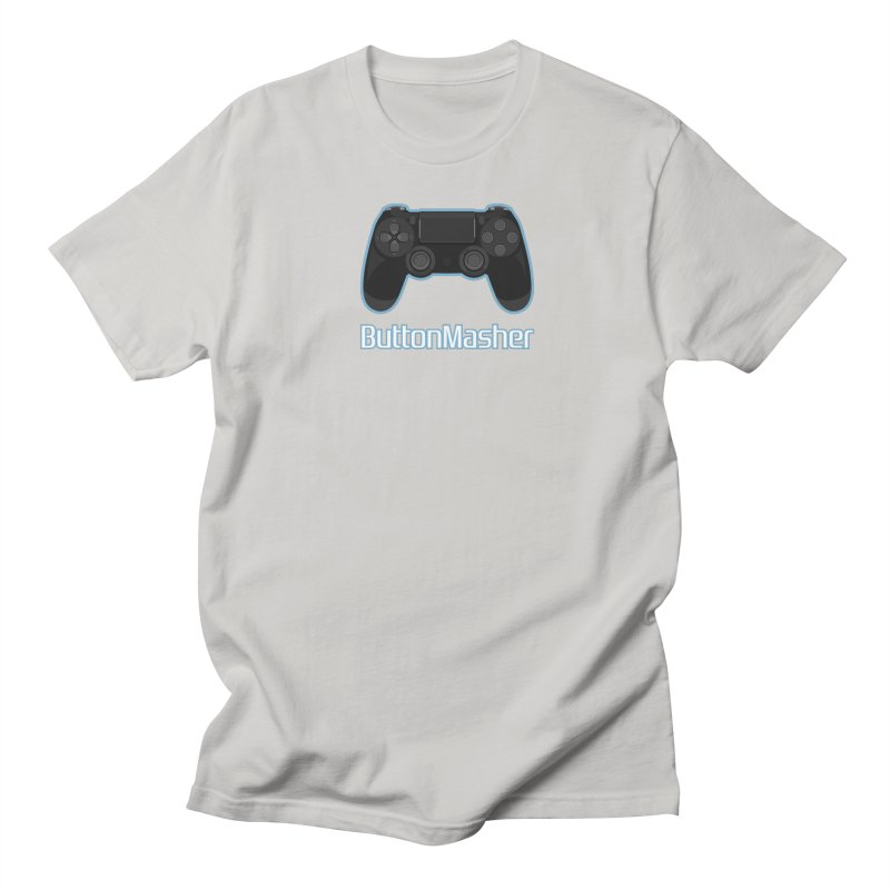Button masher Women's Regular Unisex T-Shirt by Clever Name Designs @ Threadless
