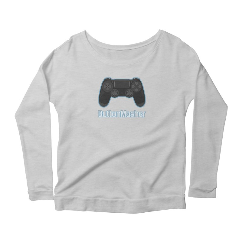 Button masher Women's Scoop Neck Longsleeve T-Shirt by Clever Name Designs @ Threadless
