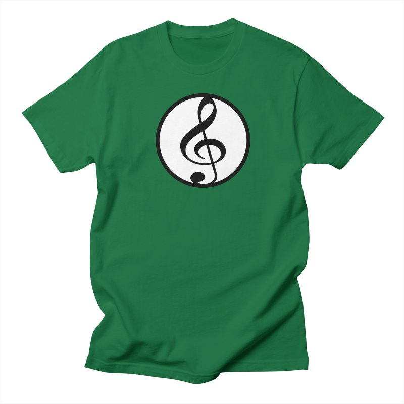 G-Clef in Men's Regular T-Shirt Kelly Green by Cliche's Artist Shop
