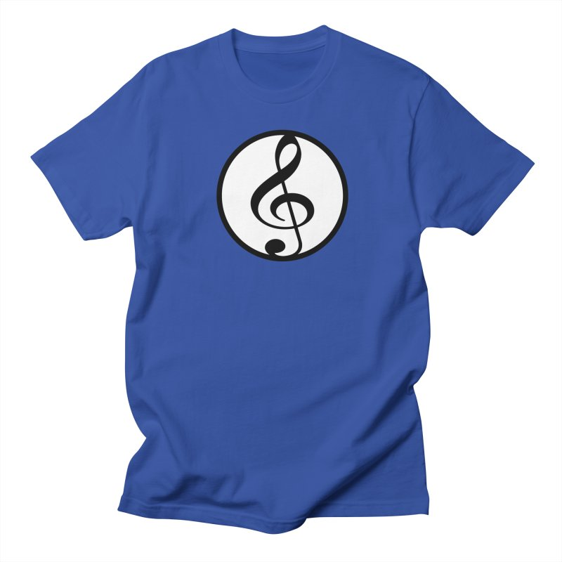 G-Clef in Men's Regular T-Shirt Royal Blue by Cliche's Artist Shop
