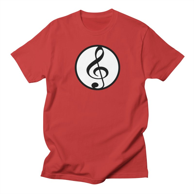 G-Clef in Men's Regular T-Shirt Red by Cliche's Artist Shop