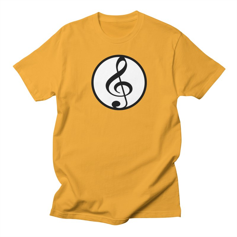 G-Clef in Men's Regular T-Shirt Gold by Cliche's Artist Shop
