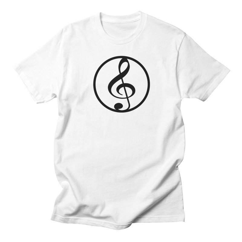G-Clef in Men's Regular T-Shirt White by Cliche's Artist Shop