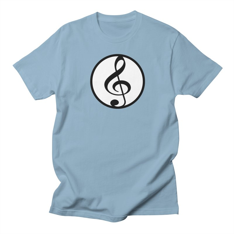 G-Clef in Men's Regular T-Shirt Light Blue by Cliche's Artist Shop