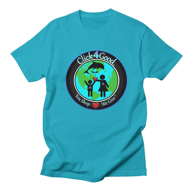 Click4Good Classic Collection in Women's Regular Unisex T-Shirt Cyan by Click4Good Store