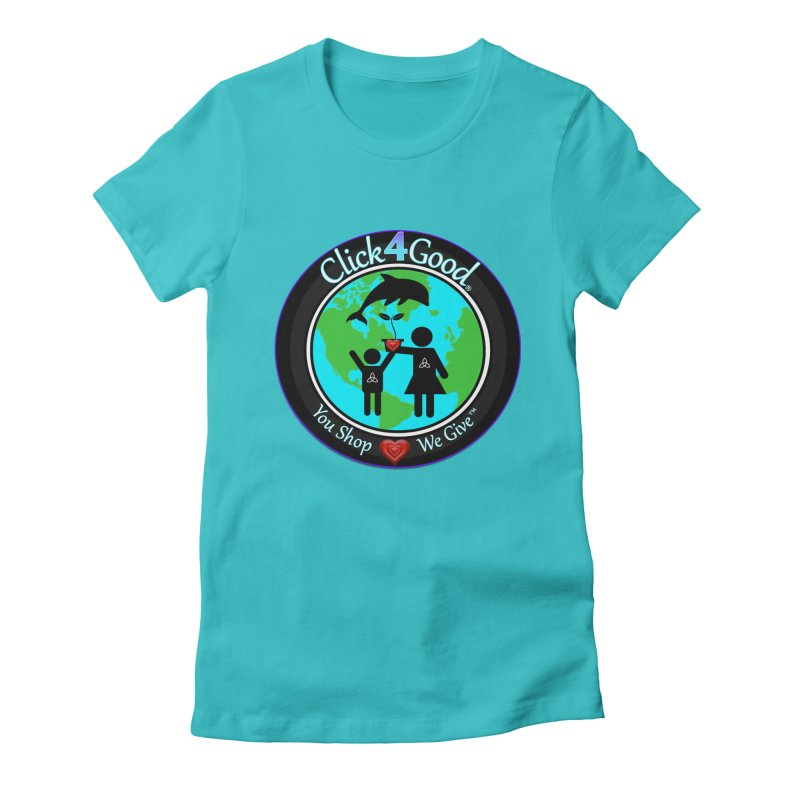 Click4Good Classic Collection in Women's Fitted T-Shirt Pacific Blue by Click4Good Store