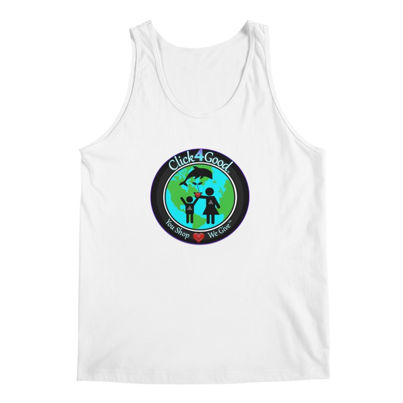 Click4Good Classic Collection in Men's Regular Tank White by Click4Good Store