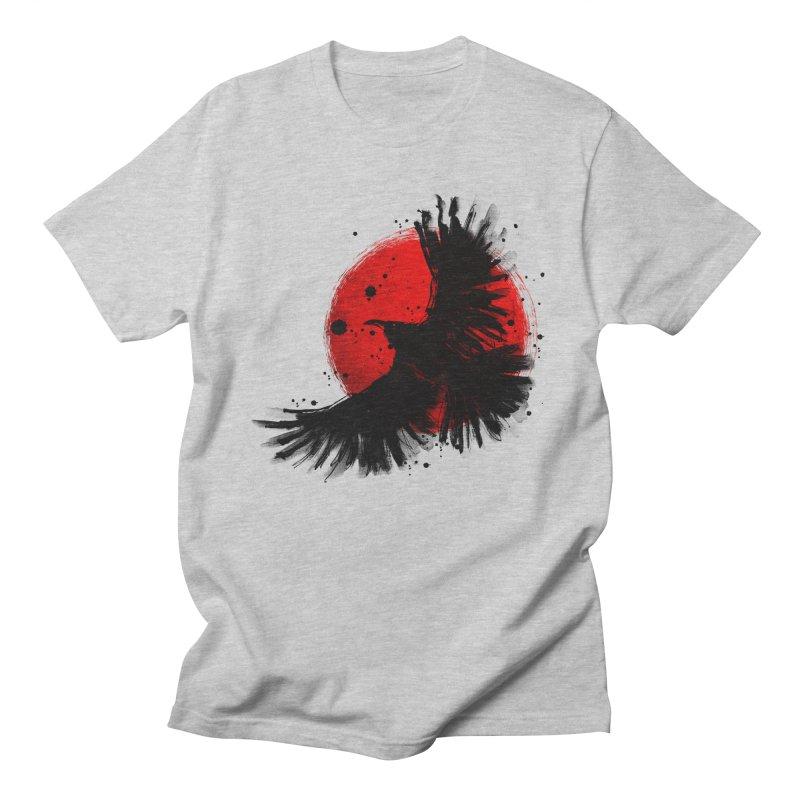 Black Crow Men's Regular T-Shirt by clingcling's Artist Shop