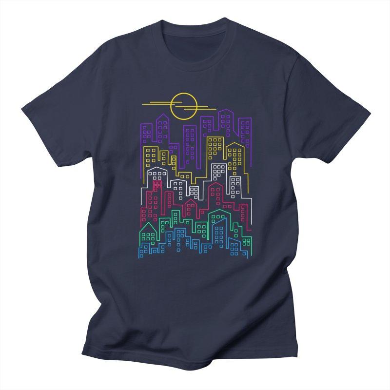 City skylines Men's Regular T-Shirt by clingcling's Artist Shop