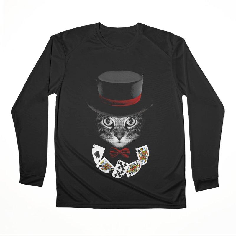 Illusionist cat Men's Performance Longsleeve T-Shirt by clingcling's Artist Shop