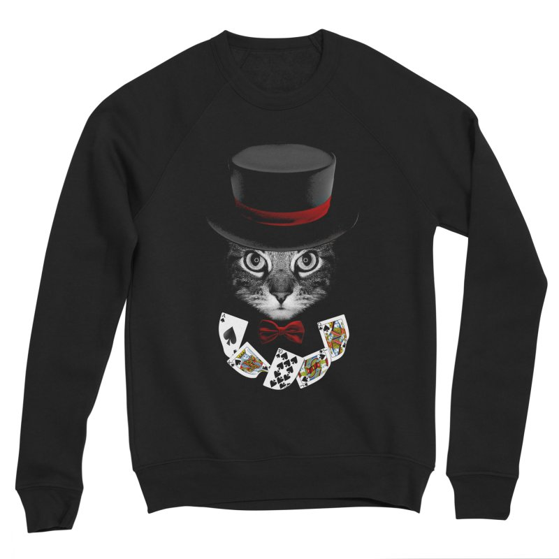 Illusionist cat Women's Sponge Fleece Sweatshirt by clingcling's Artist Shop