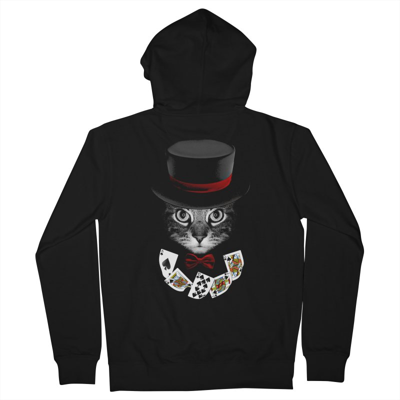 Illusionist cat Men's French Terry Zip-Up Hoody by clingcling's Artist Shop