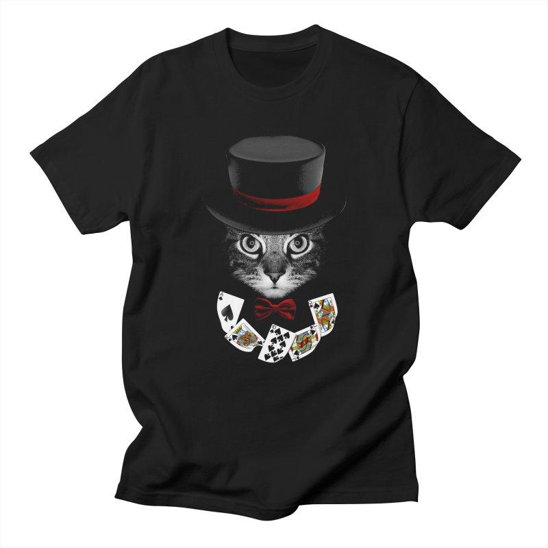 Illusionist cat Men's Regular T-Shirt by clingcling's Artist Shop