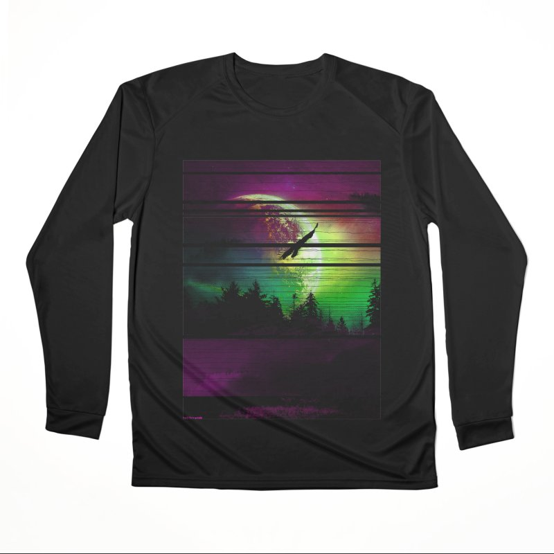 Moon View Men's Performance Longsleeve T-Shirt by clingcling's Artist Shop