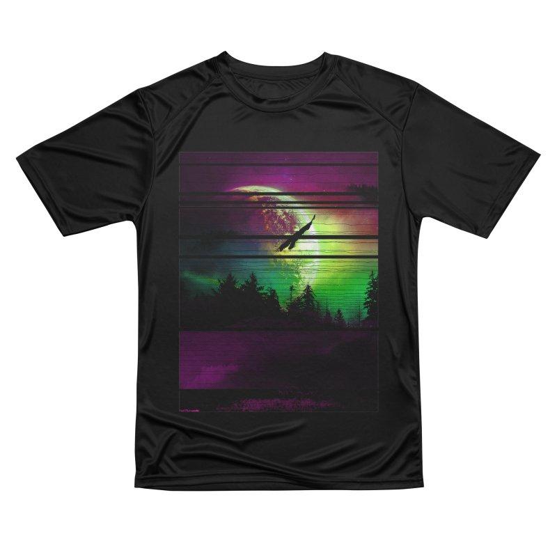 Moon View Women's Performance Unisex T-Shirt by clingcling's Artist Shop