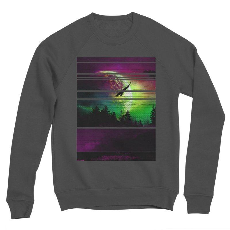 Moon View Women's Sponge Fleece Sweatshirt by clingcling's Artist Shop
