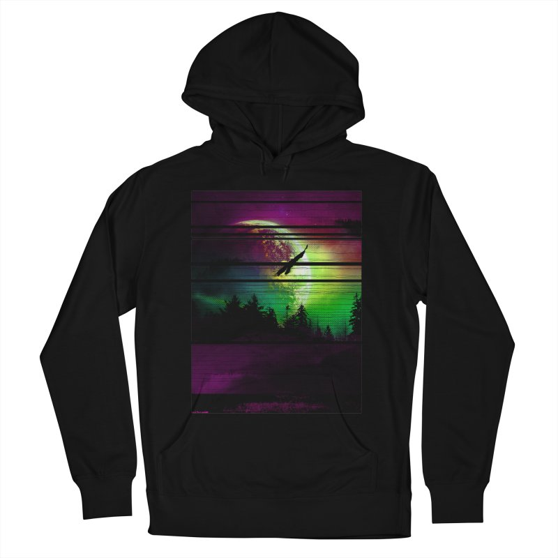 Moon View Men's French Terry Pullover Hoody by clingcling's Artist Shop