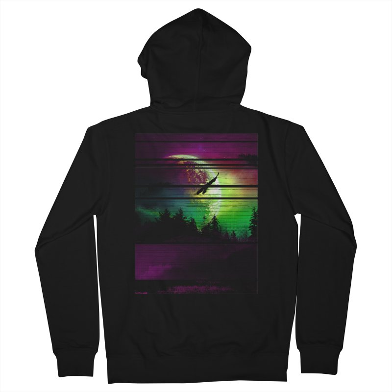 Moon View Men's French Terry Zip-Up Hoody by clingcling's Artist Shop