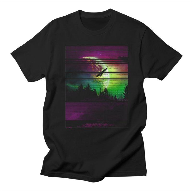 Moon View Men's Regular T-Shirt by clingcling's Artist Shop