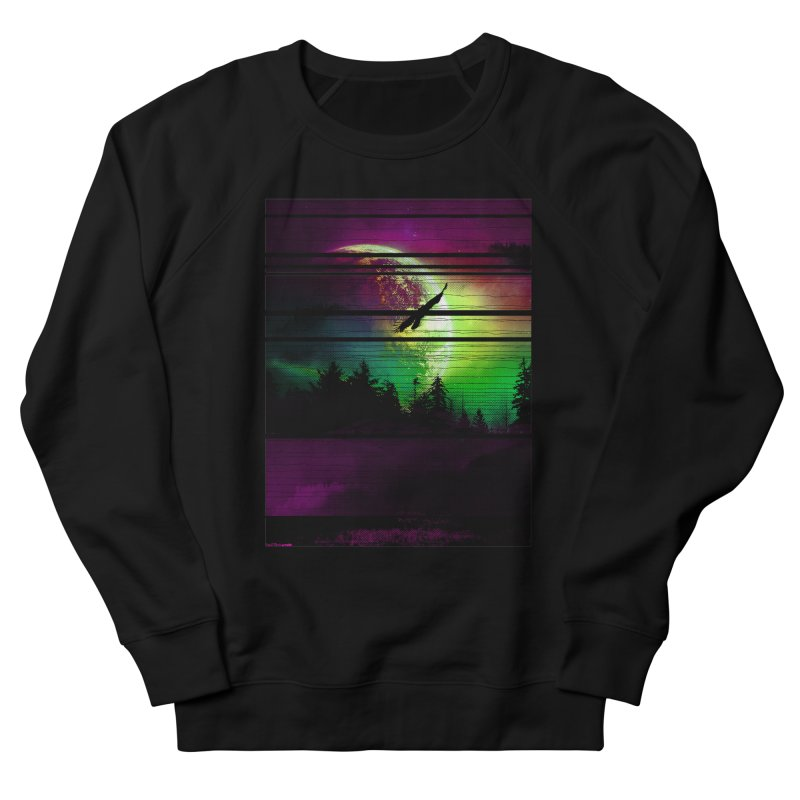 Moon View Men's French Terry Sweatshirt by clingcling's Artist Shop