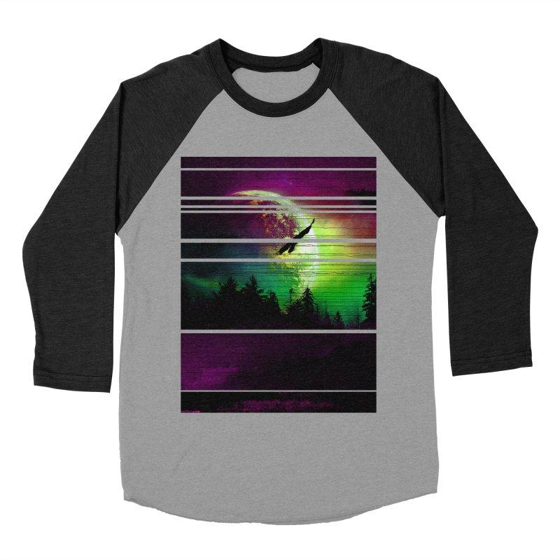 Moon View Men's Baseball Triblend Longsleeve T-Shirt by clingcling's Artist Shop