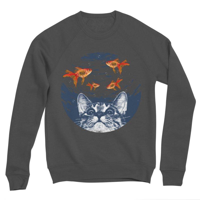 Cat & goldfish Women's Sponge Fleece Sweatshirt by clingcling's Artist Shop