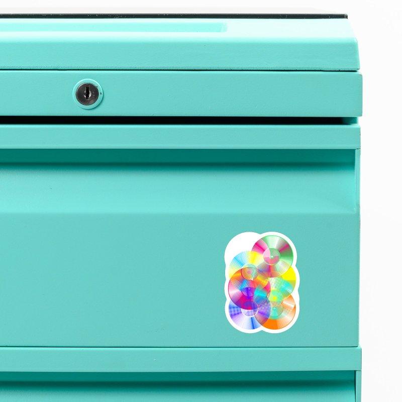 Retro neon colors vinyl Accessories Magnet by clingcling's Artist Shop