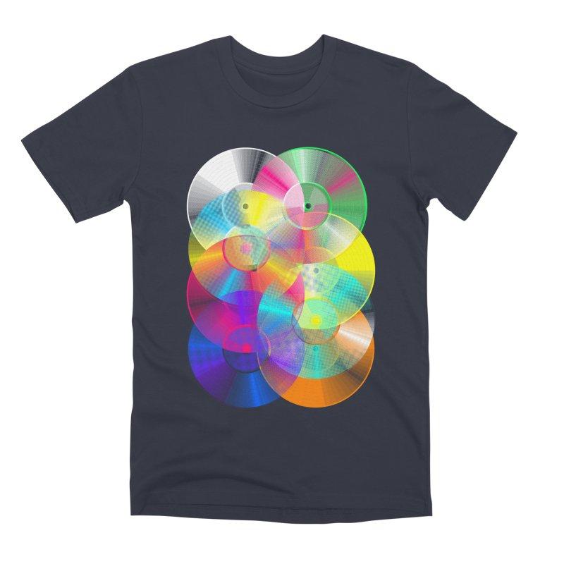 Retro neon colors vinyl Men's Premium T-Shirt by clingcling's Artist Shop