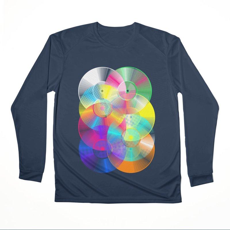 Retro neon colors vinyl Men's Performance Longsleeve T-Shirt by clingcling's Artist Shop