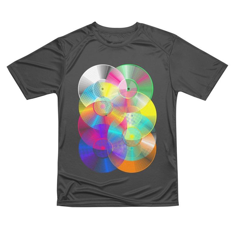 Retro neon colors vinyl Women's Performance Unisex T-Shirt by clingcling's Artist Shop