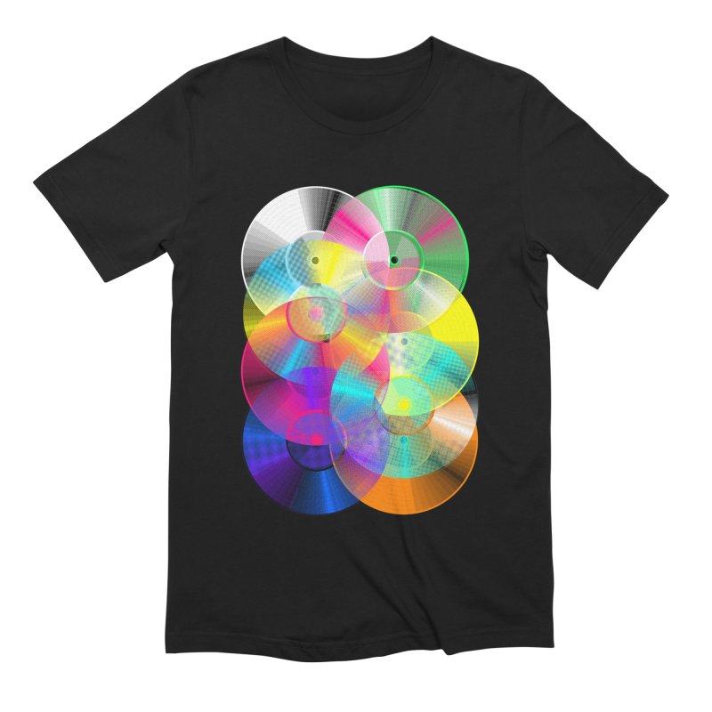 Retro neon colors vinyl Men's Extra Soft T-Shirt by clingcling's Artist Shop